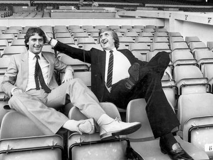 John Bond signs Trevor Francis for Manchester City, September 1981.
