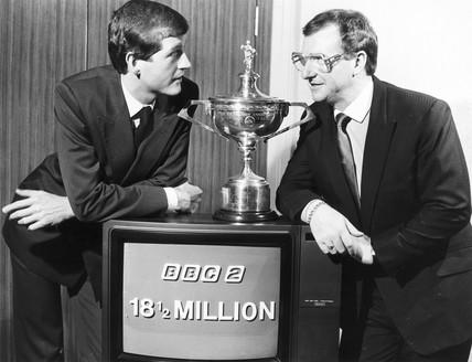 Steve Davis and Dennis Taylor, May 1985.