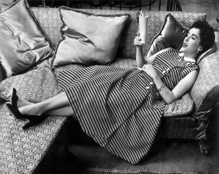 Elizabeth Taylor, American actress, c 1958.