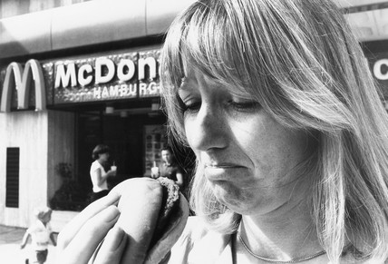 McDonalds, King Street, Hammersmith, August 1981.