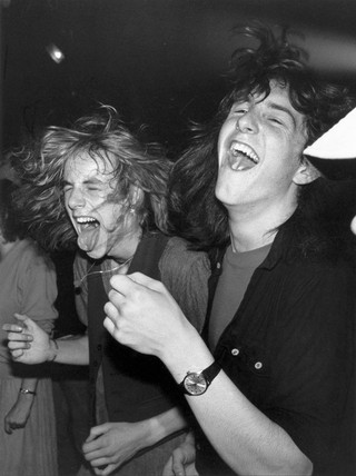 Heavy Metal fans at the Marquee Club, Wardour Street, London, June 1982.