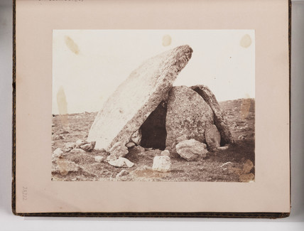 Neolithic monument, Wales, c 1860s.