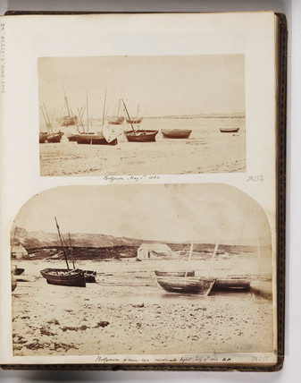 Sailing vessels, Port-Eynon, Gower Peninsula, South Wales, 1862.