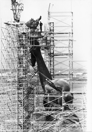 Renovation of the Statue of Liberty, New York, July 1984.