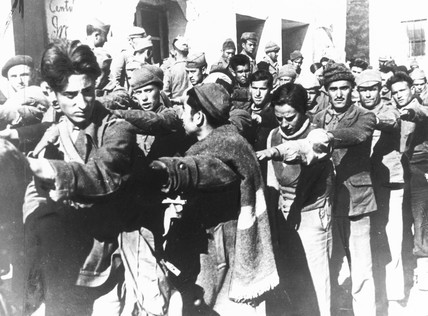 Government troops captured by the insurgents at Belchite, 16 March 1938.
