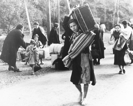 Refugees fleeing Barcelona, 29 January 1939.
