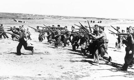 Training at Getafe barracks, Madrid, 1936.