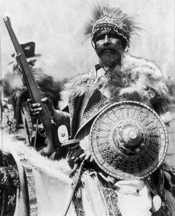Abyssinian chieftain, 19 October 1935.