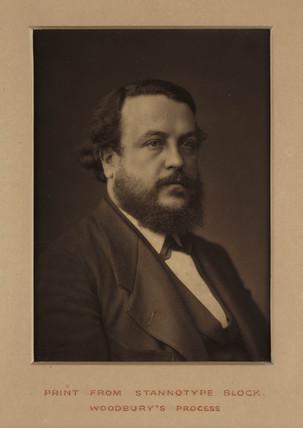 Portrait of Walter Woodbury, c. 1870.