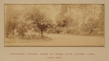 Panoramic view, Java, taken with a stereo lens, 1861.
