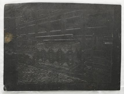 Panelled interior, c. 1865.