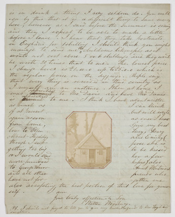 Letter from Walter Woodbury, c. 1851.