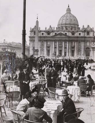 'Rome agog as Conclave is about to open' 28 February 1939.