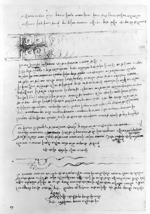 Page from Leonardo Da Vinci's notebook.