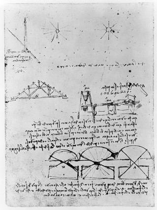 Sketch taken from Leonardo Da Vinci's notebook.
