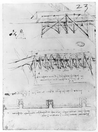 Sketch of bridge designs.