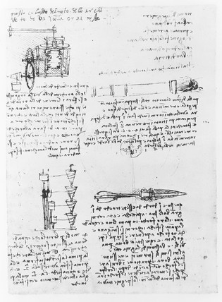 Sketch from Leonardo Da Vinci's notebook.