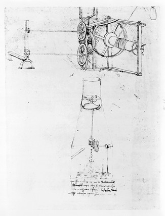 Sketch of mechanical turnspits.
