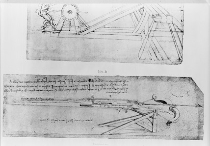 Sketch of a crossbow.