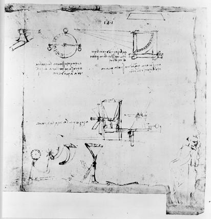 Sketch taken from a notebook by Leonardo Da Vinci.