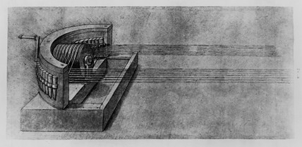 Sketch of a rope spinning machine.