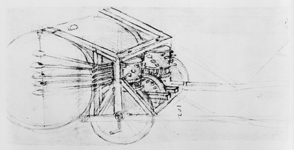 Sketch of a mechanical drum.