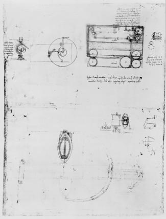 Sketch of a power loom.