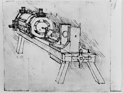 Sketch of a boring machine.
