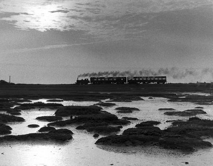 Class A1X 0-6-0T No.32661, Langston Harbour causeway, 9 September 1960.
