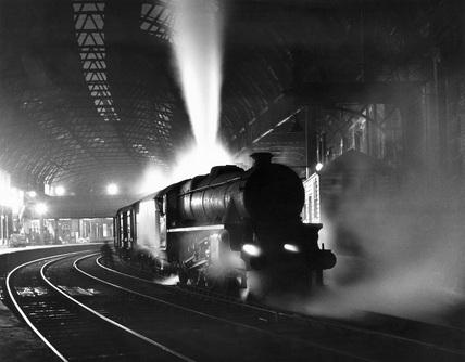 Parcel trains waits at Birmingham New Street, April 1964.