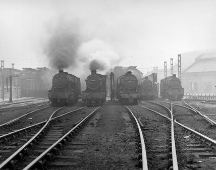 Locomotives, Birkenhead, September 1961.