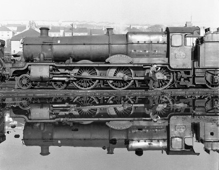 Nunhold Grange locomotive, Devon, 29 October 1961.
