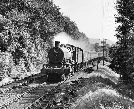 Hastings-Birmingham steam locomotive, Surrey, 10 September 1960.