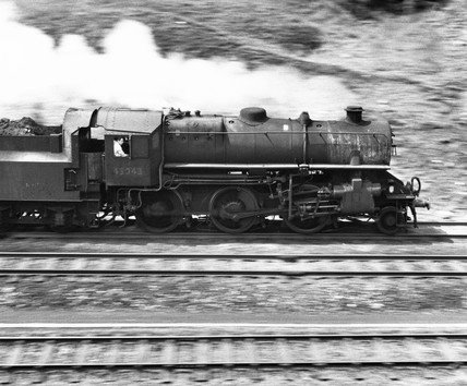 Steam locomotive heading north, 31 May 1967.