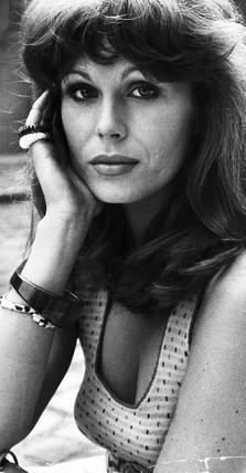 Joanna Lumley, British actress, July 1973.