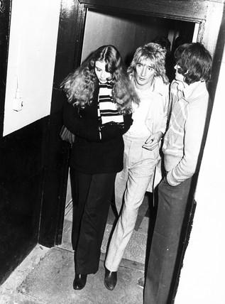 Rod Stewart and female companion, November 1978.