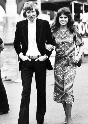 Joanna Lumley with ex-husband Jeremy Lloyd, 1973.