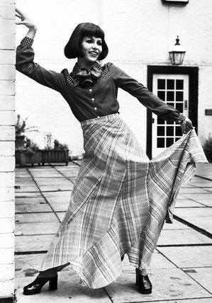 Maxi skirt, June 1972.