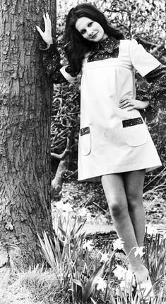 Flowered smock, April 1972.