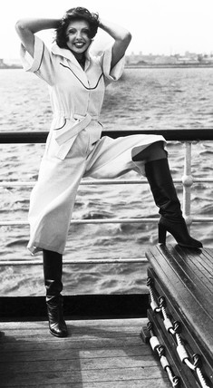 Culotte dress, April 1976.