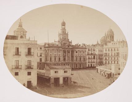 Plaza d'Isabella Secondi , Cadiz , c 1849.