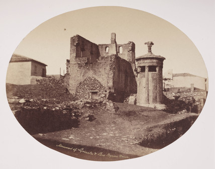 The monument of Lysicrates, Athens, c 1849.