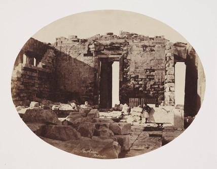 Interior of the Parthenon, Athens, c 1849.