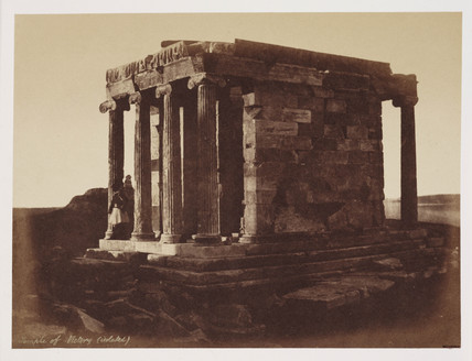 Temple of Victory, Athens, c 1849.