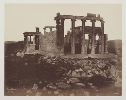 Erectheum showing position of Caryatid Portico, c 1849.