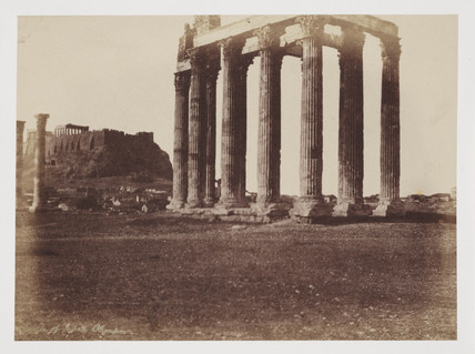 The Temple of Jupiter Olympius, c 1849.
