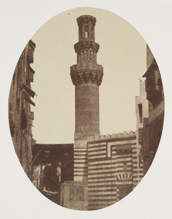 A minaret, Cairo, c 1849.