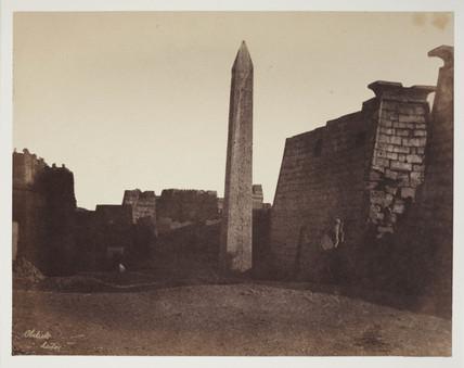'Propylou of Luxor with Obelisk. ' c 1849.