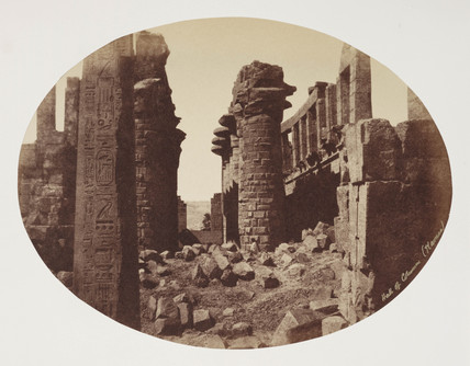 'Hall of Columns and Obelisque, Karnack' c 1849.