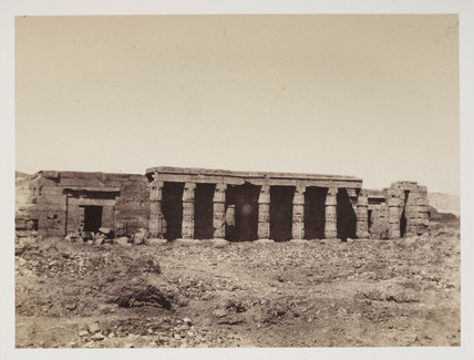 'Temple of Gournou', Thebes, c 1849.